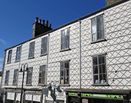 Patterned buildings in Kendal